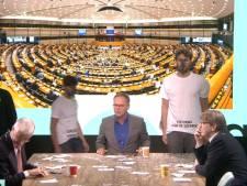 Klimaatactivisten verstoren uitzending Belgische tv met confettiregen