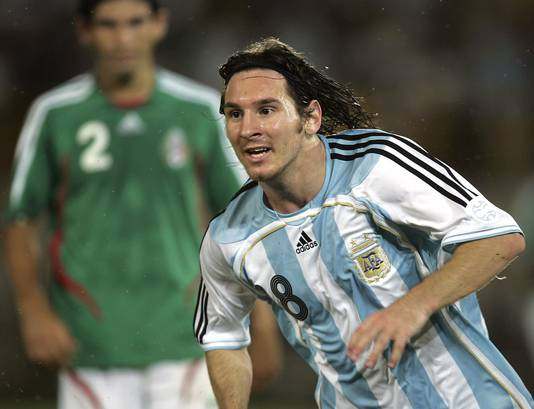 Lionel Messi op de Copa América in 2007.