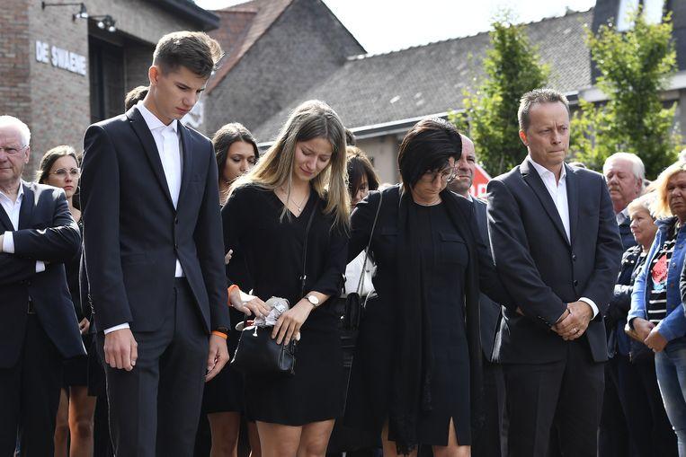 De ouders van Bjorg Lambrecht met zijn zus en haar vriend.