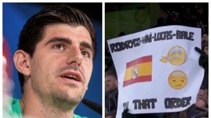 """Voor Courtois is het incident-Bale van de baan: """"Het is normaal dat je van je land houdt, dat gaat voor op alles"""""""