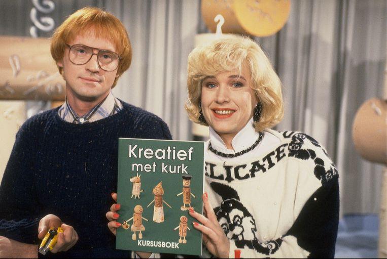 Kreatief met Kurk, 1993. Arjan Ederveen en Tosca Niterink. Beeld ANP
