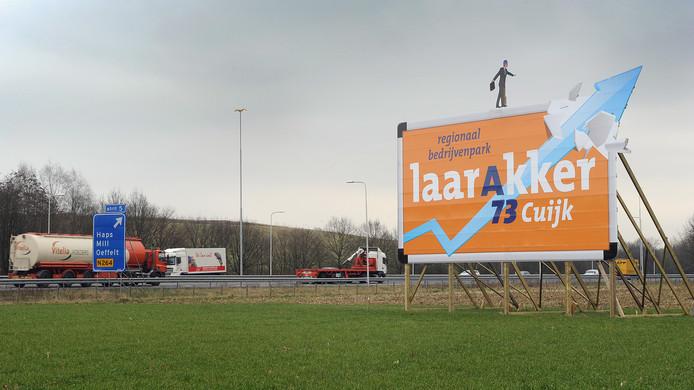 Bedrijvenpark Laarakker langs de A73 bij Haps.