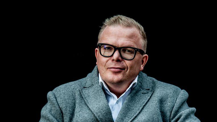 Jan Roos gaf een gastles 'loopbaan en burgerschap'. Beeld anp