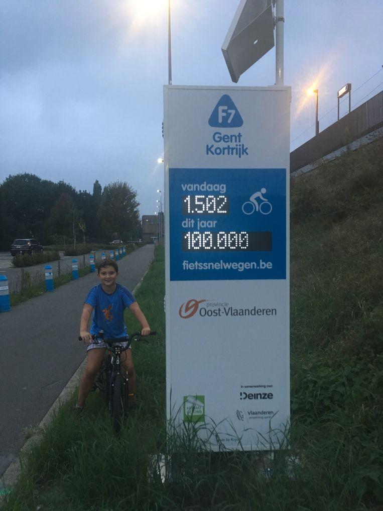 Arnd Metelmann uit Deinze is de 100.000ste fietser sinds het begin van de telling.