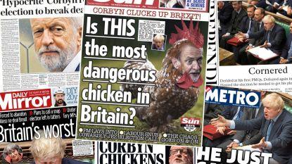 """""""Is dit gevaarlijkste kip van Verenigd Koninkrijk?"""": Britse kranten snoeihard voor Boris Johnson én """"hypocriete"""" oppositieleider Corbyn"""