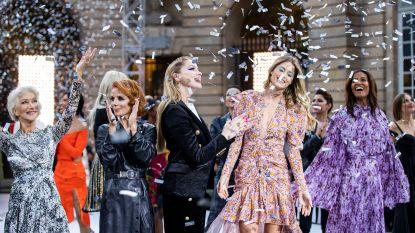 Helen Mirren, Eva Longoria, Amber Heard en meer celebs samen te zien op de catwalk
