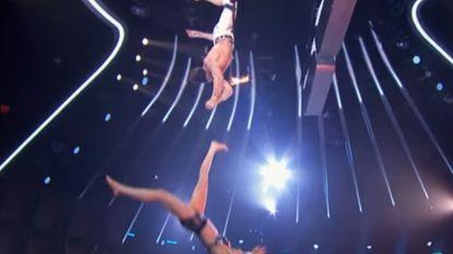 Bloedstollende trapeze-act in America's Got Talent gaat pijnlijk fout