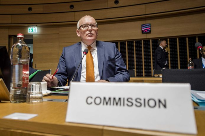 Europees commissaris Frans Timmermans.