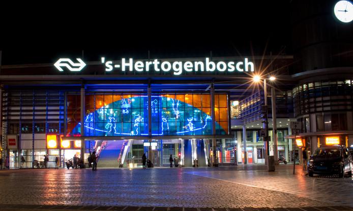 Station Den Bosch bij nacht