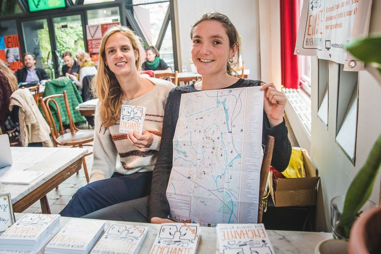 Marie en Rebecca van Enchanté met hun plan waar minderbedeelden welkom zijn.