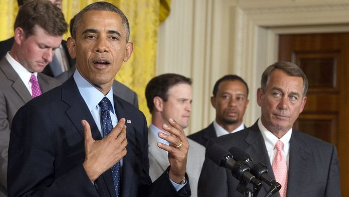 Barack Obama et le président de la Chambres John Boehner