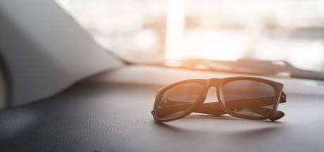 'Zonnekleppen zijn niet voldoende, zorg altijd ook voor een zonnebril in de auto'