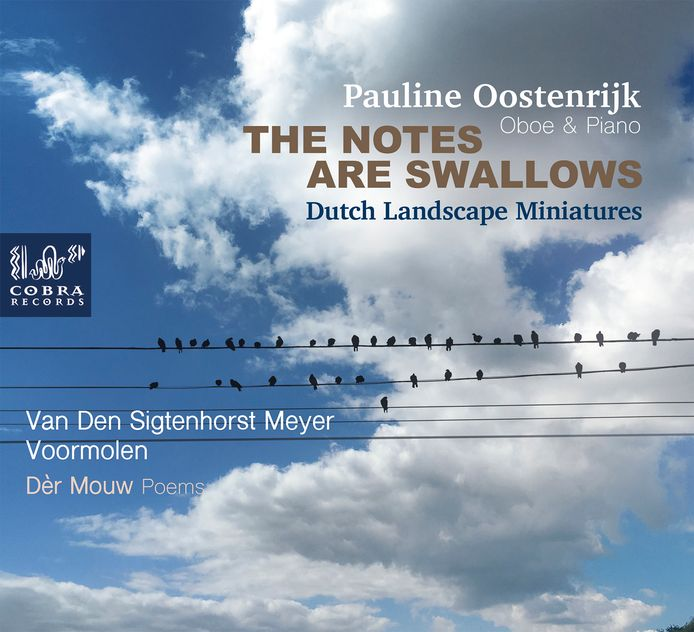 De cover van The notes are swallows door Pauline Oostenrijk.