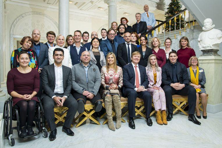 Bruno Vanden Broecke (linksboven) mocht lunchen met het Nederlandse koningspaar