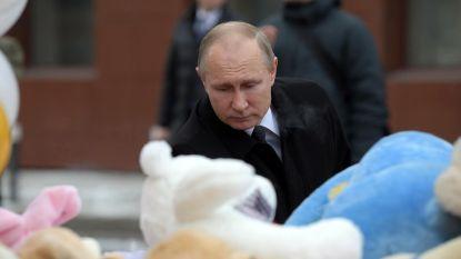 """Poetin na verwoestende brand in winkelcentrum: """"We zijn mensen verloren door criminele nalatigheid"""""""