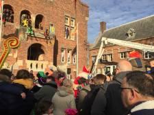 Amerigo brengt de Sint naar het Raadhuisplein in Waalwijk