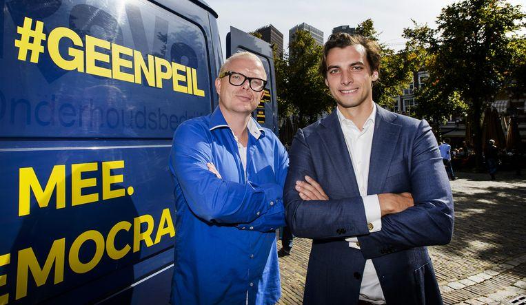 Jan Roos (L) en Thierry Baudet. Beeld anp