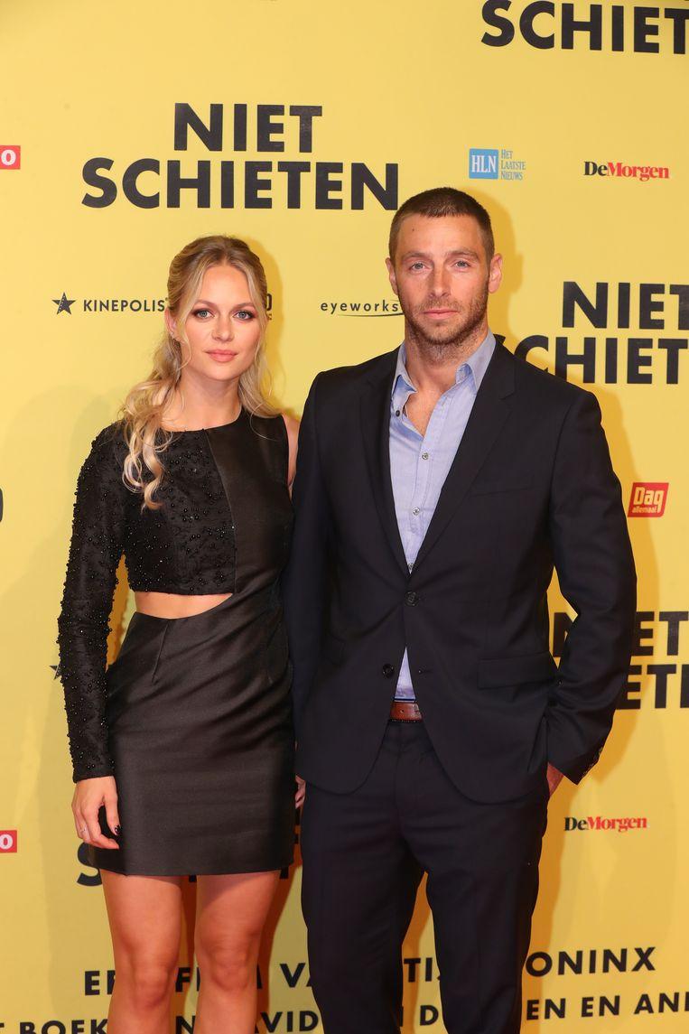 Louis Talpe met zijn Zweedse vriendin Tiffany. De acteur speelt de vader van David.