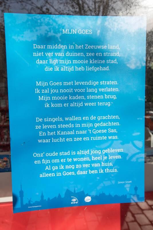 Het Allereerste Gedicht Van Simon Snoek Is Stadsgedicht Goes