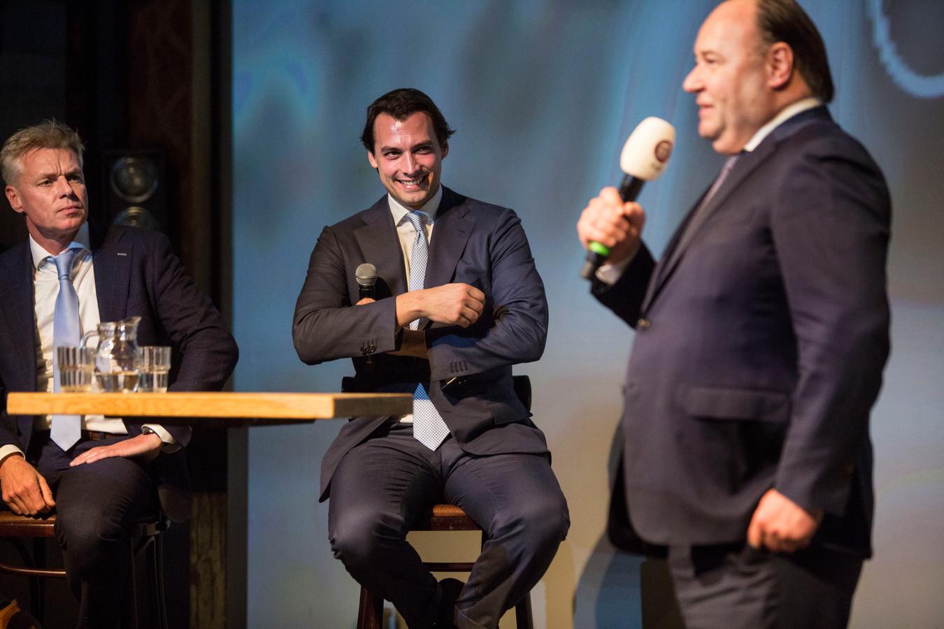 Baudet en Otten (rechts) tijdens de campagne.