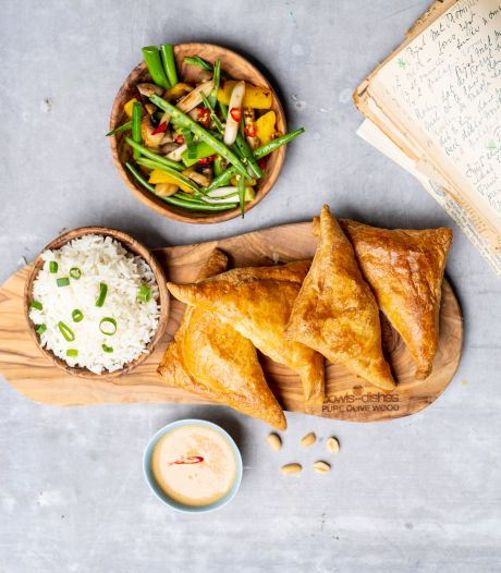 Wat Eten We Vandaag: Indische flappen met gehakt en pindadip uit de airfryer