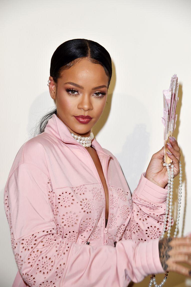 Rihanna bij de lancering van Fenty X Puma in 2016. Beeld Getty Images Europe