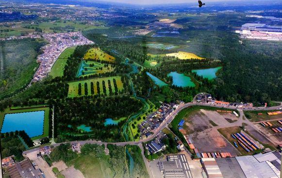 Het ontwerp voor de Kleiputten in Terhagen