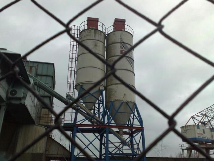 De betoncentrale in Boxmeer.