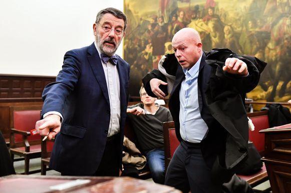 Brussels rechtbankvoorzitter Luc Hennart en advocaat Sven Mary (archiefbeeld).