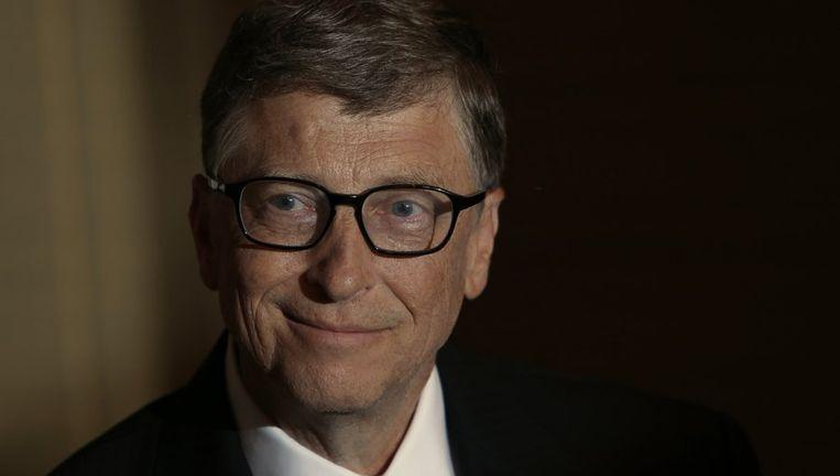 Bill Gates tijdens een interview, begin april.