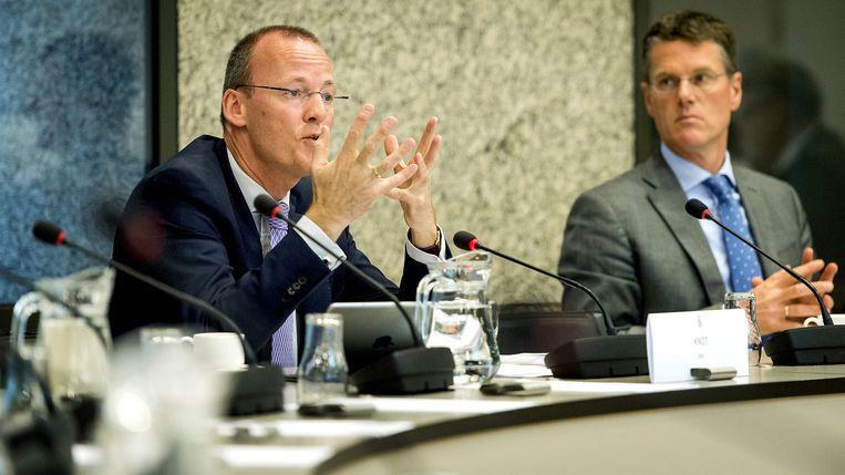 President Klaas Knot van DNB tijdens een rondetafelgesprek over het ECB-beleid van de commissie Financiën in de Tweede Kamer. Beeld anp