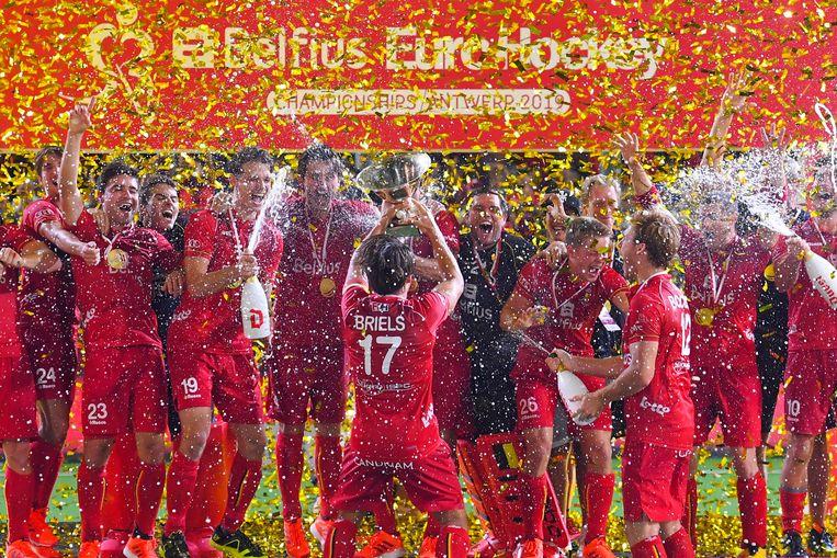 De Red Lions sleepten zaterdag de Europese hockeytitel in de wacht.