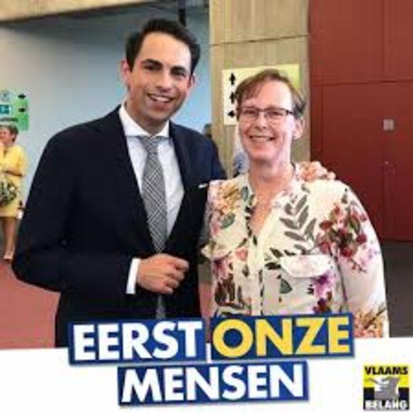 Veronisue Vervoort naast Tom Van Grieken.
