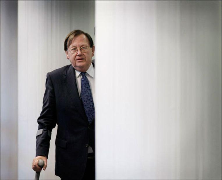 Nout Wellink van De Nederlandsche Bank ziet het somber in. Foto ANP Beeld
