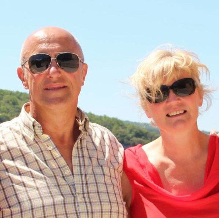 De verongelukte Laurent Vermeersch en echtgenote Ingrid Persyn.