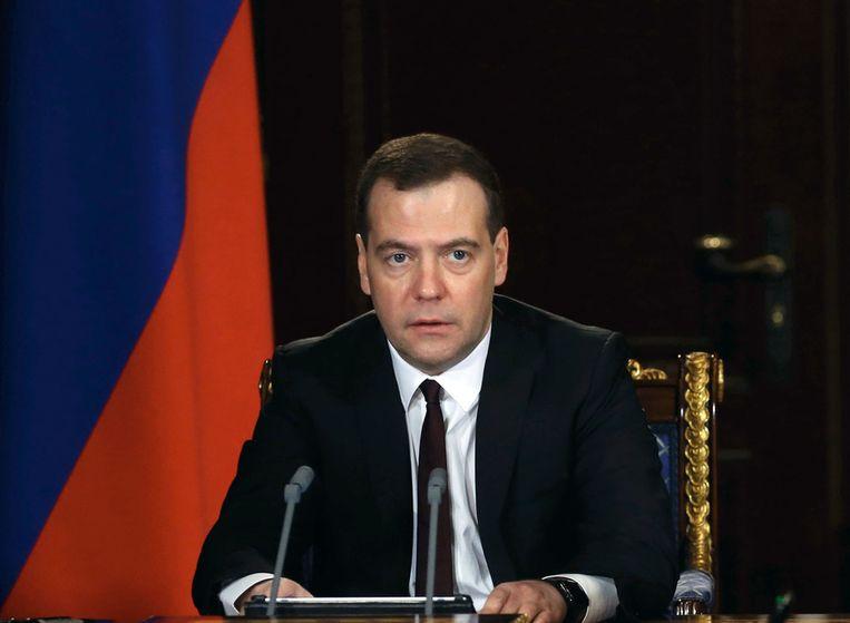 De Russische premier Dmitri Medvedev. Beeld afp