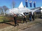 Met een haai door de straten van Almelo