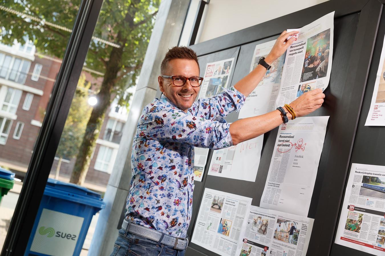 Chef uit Rolf Finders bepaalt iedere dag hoe de voorpagina eruit ziet.