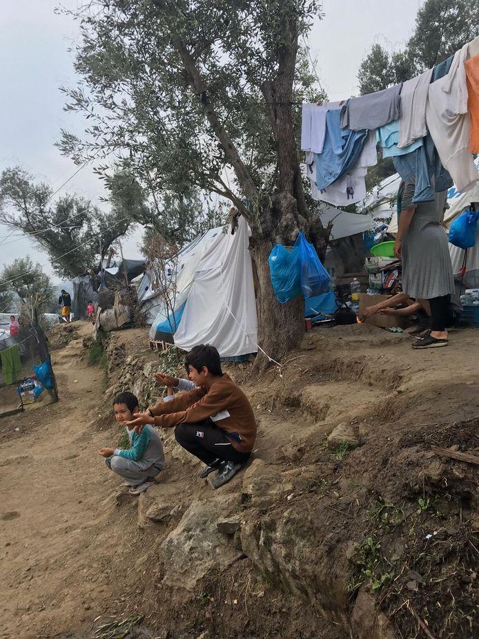 Vluchtelingenkamp op Lesbos