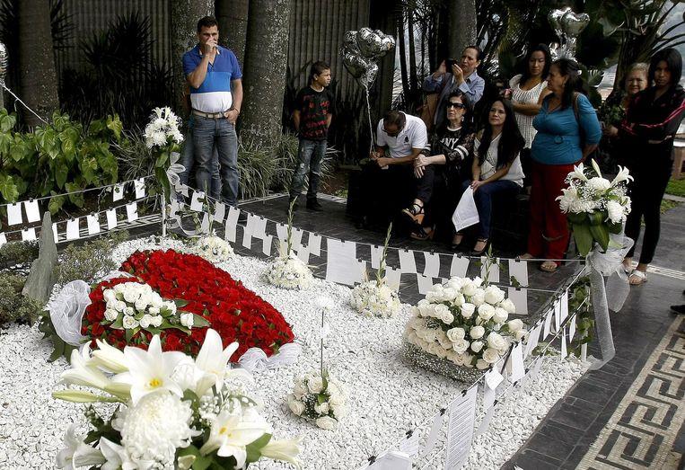 De tombe van Pablo Escobar in Medellín.