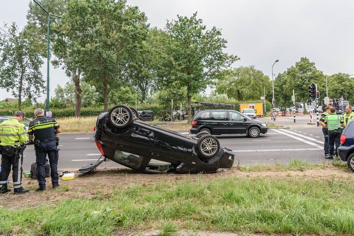 Ongeluk op de Nieuwe Kadijk in Breda.