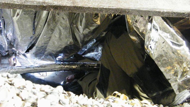 Echt heel veel ruimte had Paul Woudstra van PuurNatuur niet toen hij de isolatiefolie onder mijn vloer moest aanbrengen... Beeld Vincent Dekker