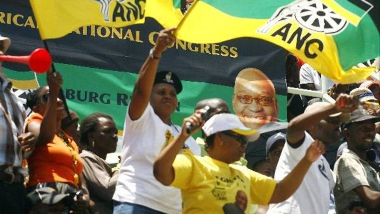 ANC-supporters (AFP) Beeld