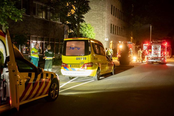 Brand bij de Van der Hoeven kliniek aan de Oudlaan in Utrecht