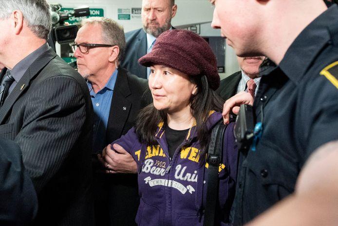 De financiële topvrouw van Huawei, Meng Wanzhou, in Canada.