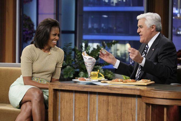 Michelle was eerder ook te gast bij Jay Leno.
