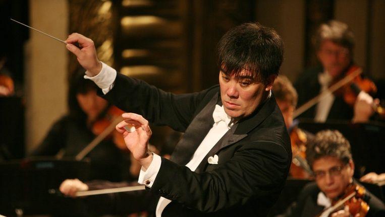 Dirigent Alan Gilbert. Beeld