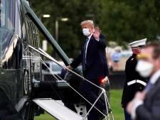 President Trump keert in helikopter terug naar Witte Huis: 'Wees niet bang voor corona'