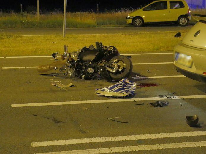De scooter liep aanzienlijke schade op.