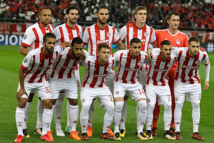 Het elftal van Olympiakos Pireaus.